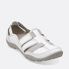 Womens Shoes Clarks Haley Stork White Leather
