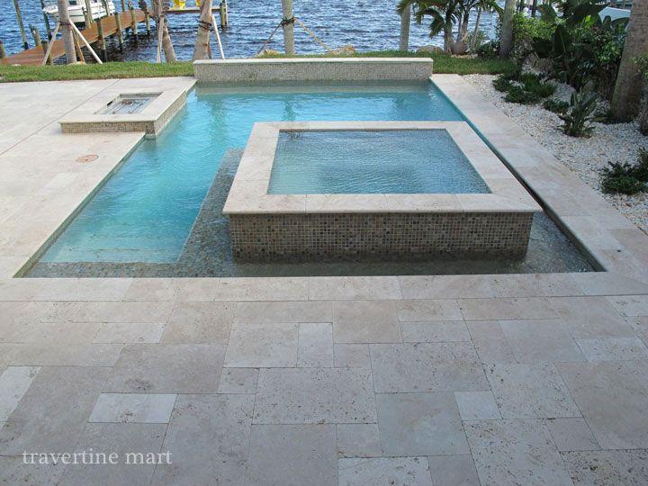 Diy Travertine Installation Tips Travertine Pool Travertine Pool Decking Modern Pools