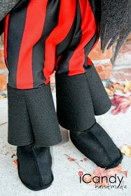 icandy handmade: (tutorial and pattern) Semi-Homemade Pirate Costume: DIY Pirate Boots #diypiratecostumeforkids