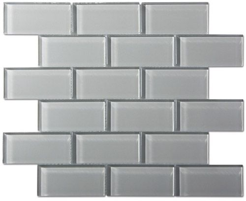 Smoke Gray Gl Mosaic Subway Tile To Tie Everything Together Lglimitlessdesign Contest