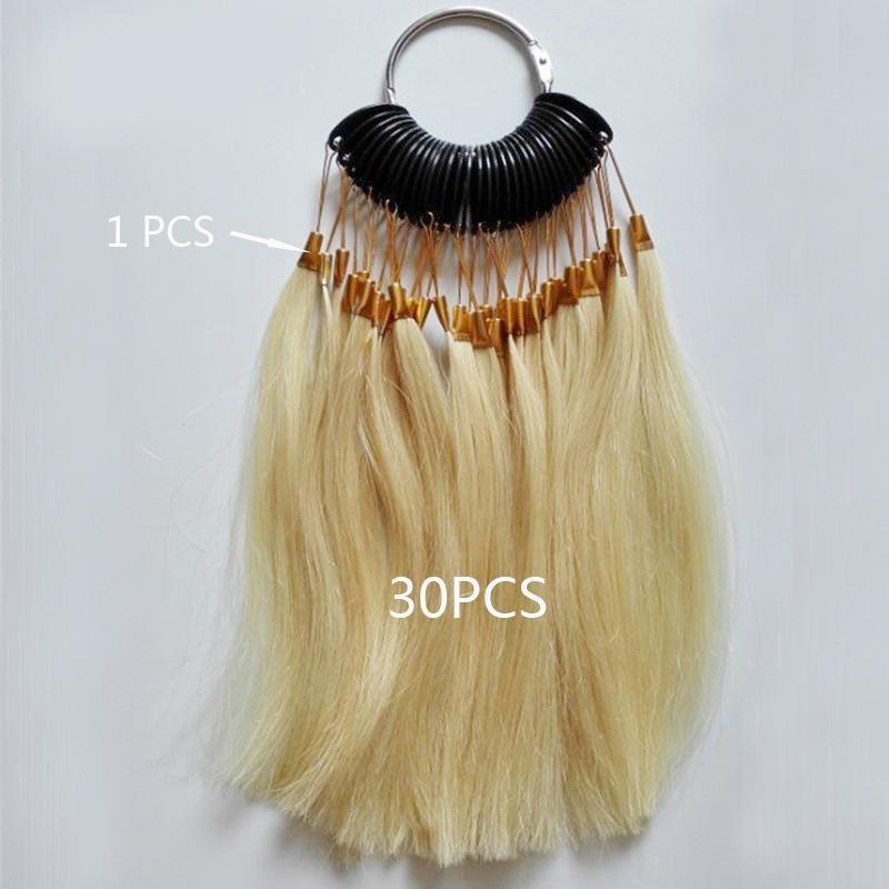30pcsset 100 Human Virgin Hair Color Ring For Human Hair