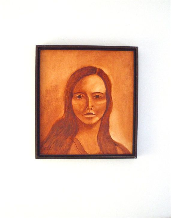 Vintage ORIGINAL Signed Oil Painting Portrait by therecyclingethic