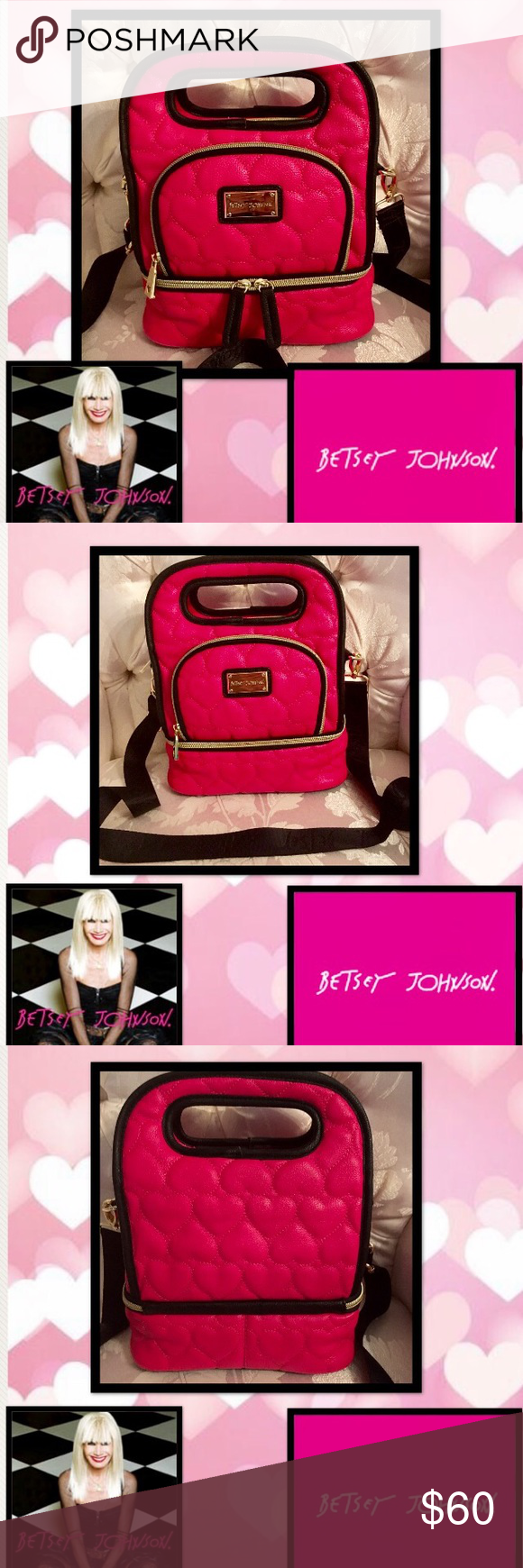 Betsey Johnson💖 Heart Insulated Lunch Tote Beautiful
