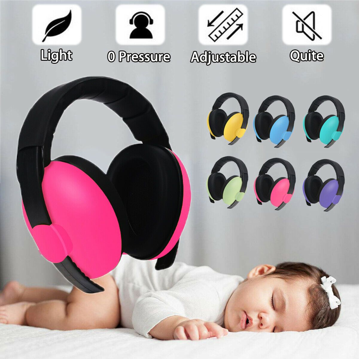 Baby Infant Earmuffs Ear Muffs Sleeping Hearing Protection Noise Reducing Plug Ear Muffs Earmuffs Earmu Baby Hearing Protection Hearing Protection Earmuffs