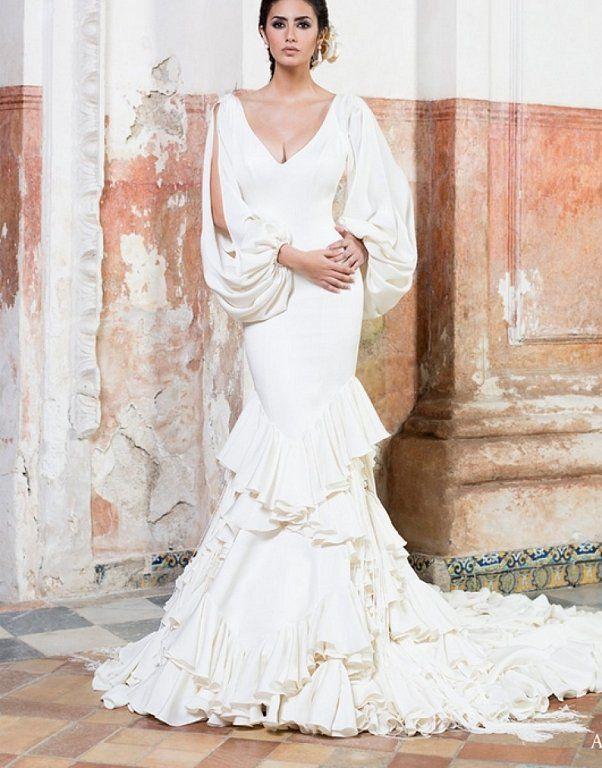 vestidos de novia flamencos: ¡para novias con mucho arte! en 2019