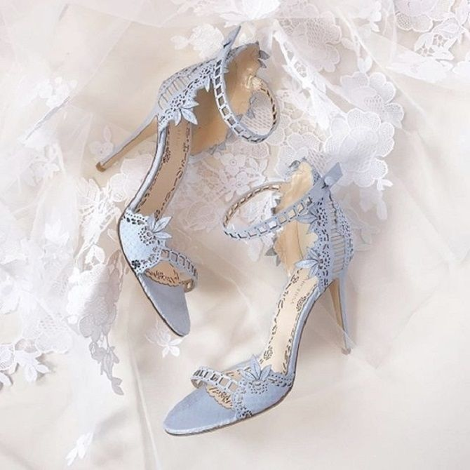 Baby Blue Marchesa Bridal Heels | Pretty Wedding Shoes #weddingshoes #bridalshoes #weddingheels #bridalheels