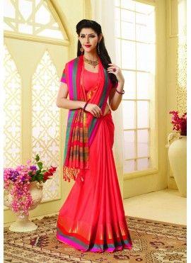 801d689191 Meghdoot Orange Colour Art Tussar Silk Woven Saree | Indian designer ...