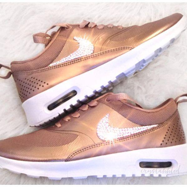 Nike Air Max Thea Bling Nike Shoes Rose Gold-Nike Swarovski Swarovski. 62369db6f