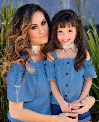 8acebc0431 Mom Daughter Family Matching Clothes Set Women Baby Girls Kids Outfits
