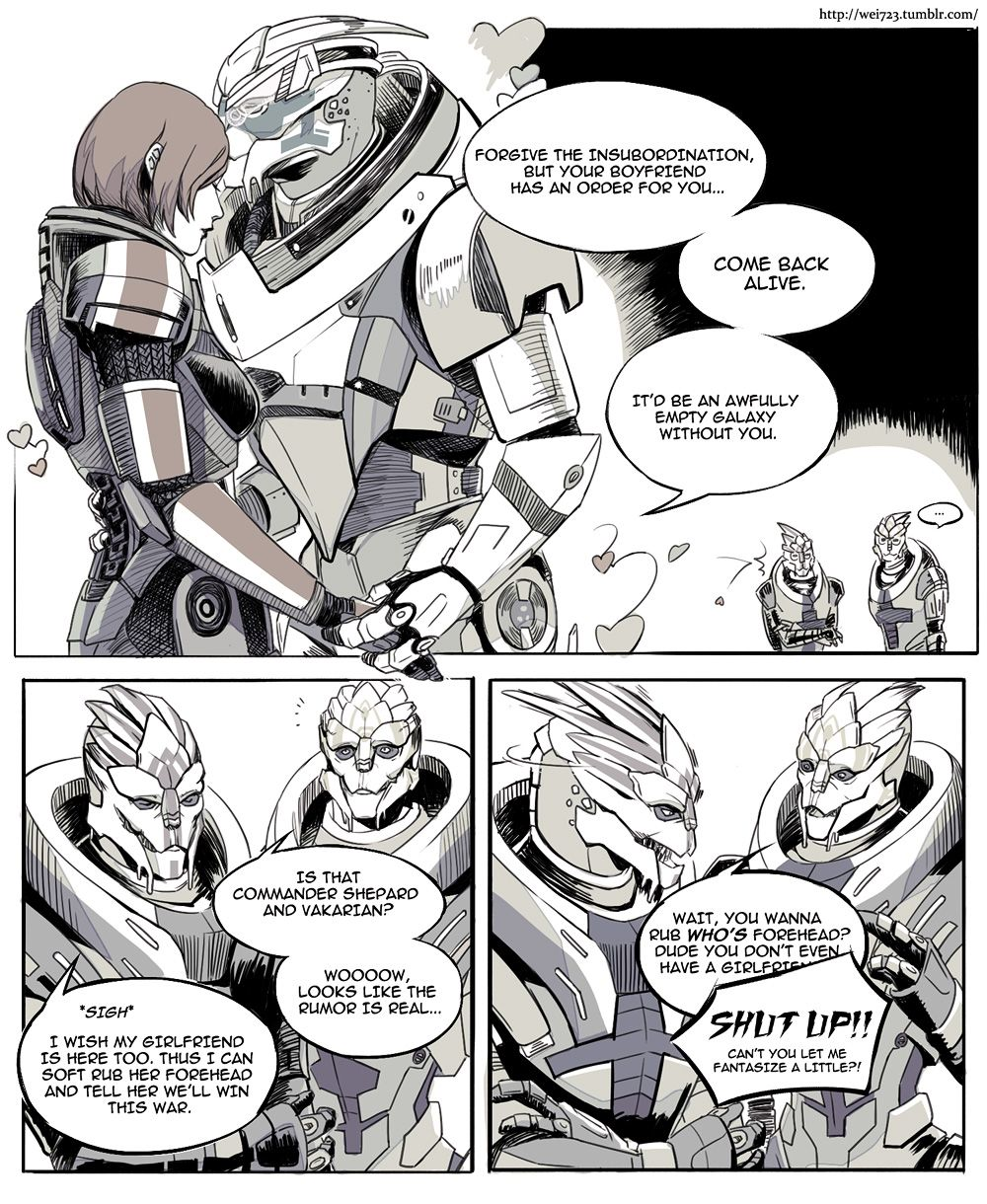 Garrus and Shepard Romance | Video Game stuff | Mass effect