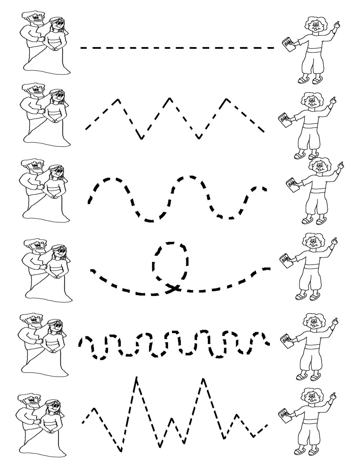 Tracing Activities For Preschool Kids