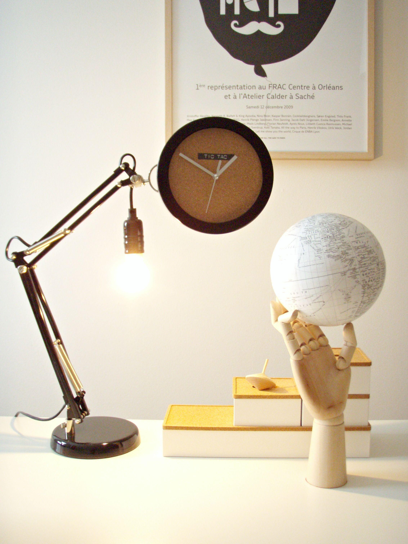 DIY adjustable lamp clock