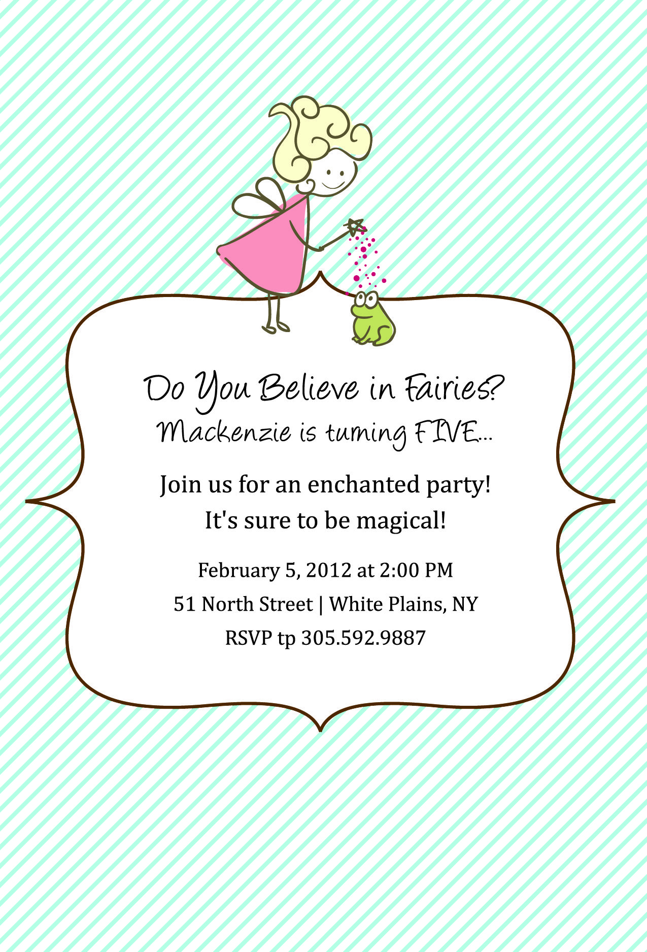 Fairy Birthday Party Custom Invitation and Labels | B-day ideas ...