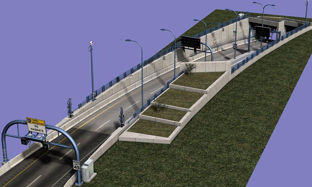 highway tunnel entrance 3d max   highway in 2019   Entrance, Bridge