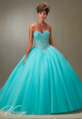 3e2fbb51a fotos de Vestidos de 15 Años Azul Turquesa