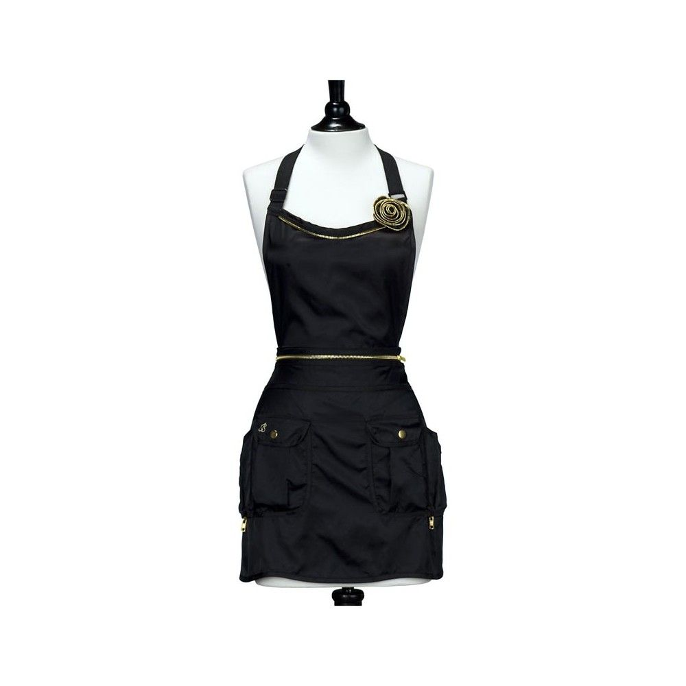 Salon Convertible Jessie Steele Black Gold Convertible Utility Apron Full Hair