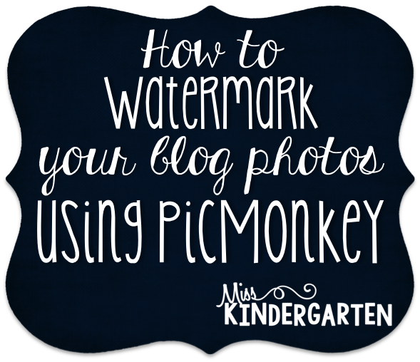 Adding a Watermark to Your Blog Photos {a tutorial}