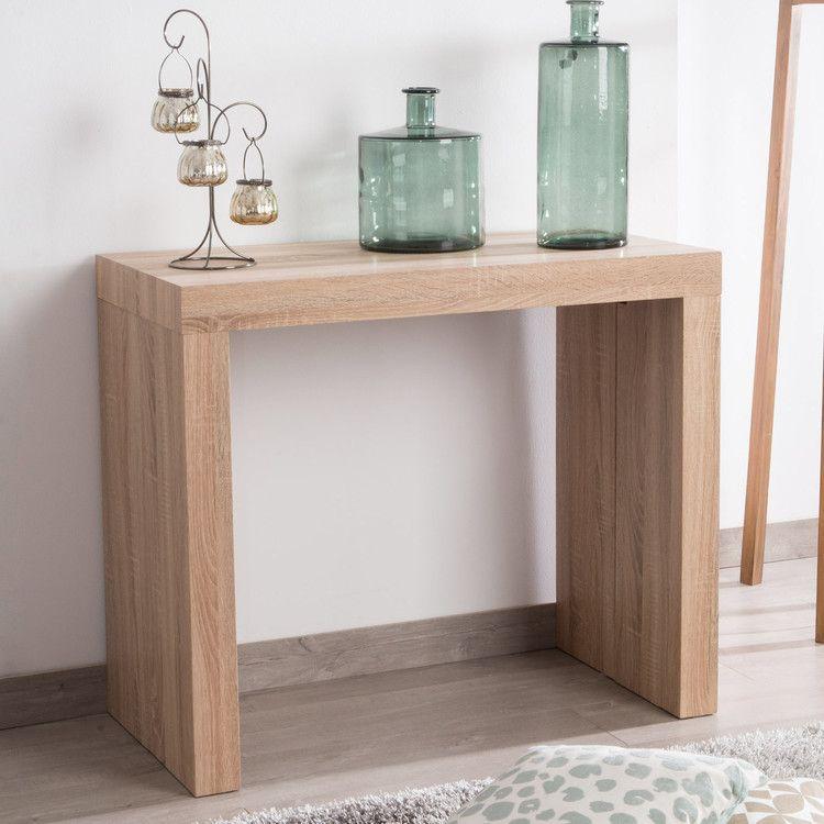 table console en bois extensible avec