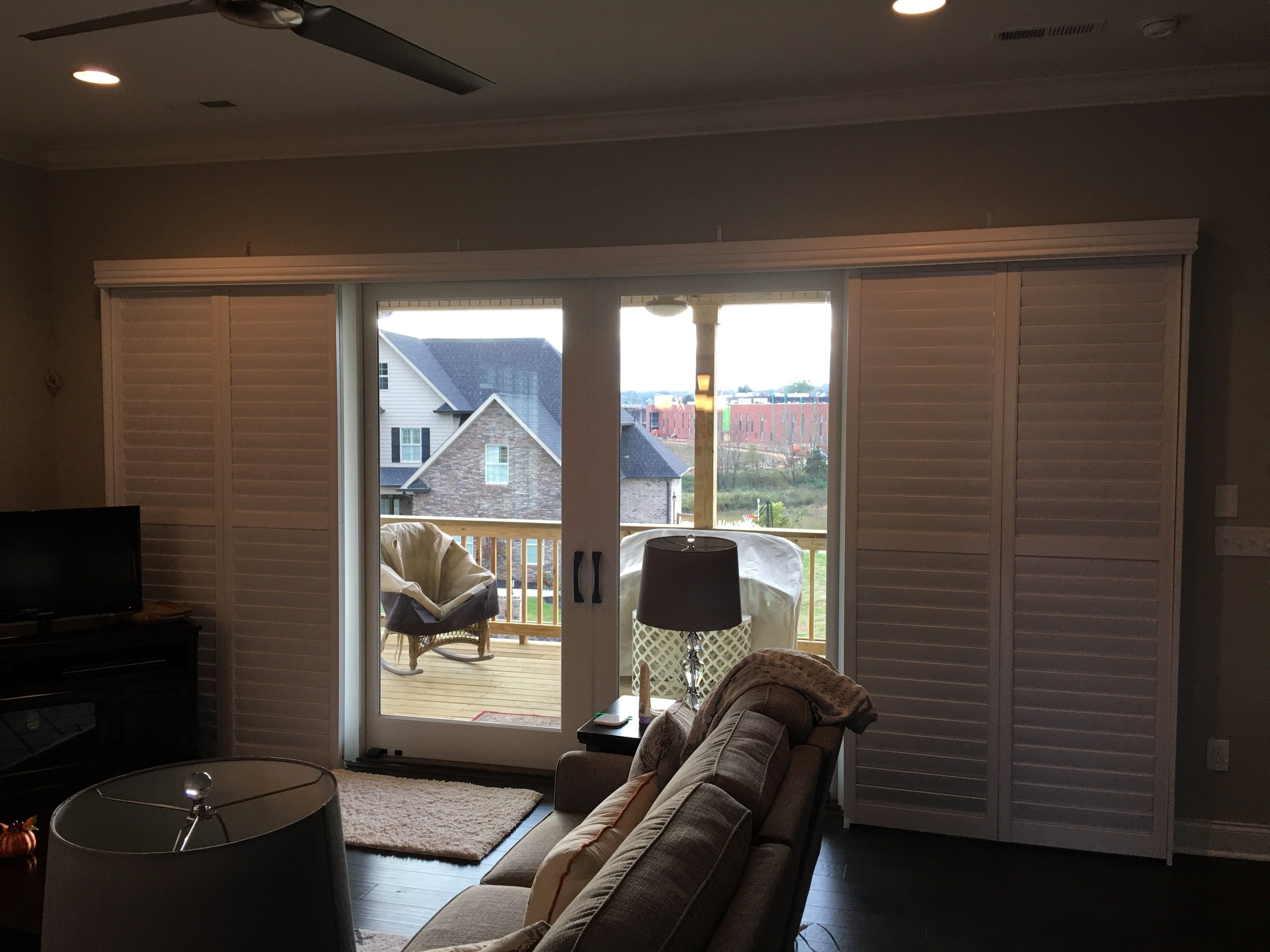 Sliding Glass Doors Are Easy To Cover With Our Sliding Plantation