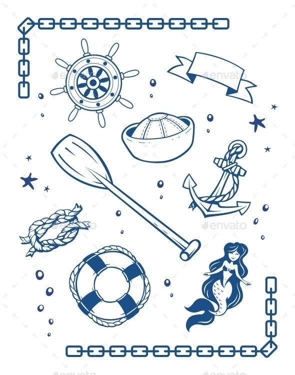 Sea And Nautical Symbols Fonts Logos Icons Pinterest Symbols