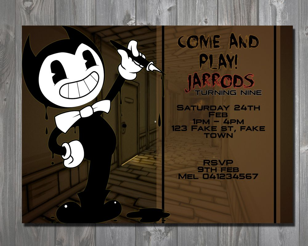 Bendy And The Ink Machine Invitation Bendy Invite Bendy - bendy and the ink machine chapter1 roblox