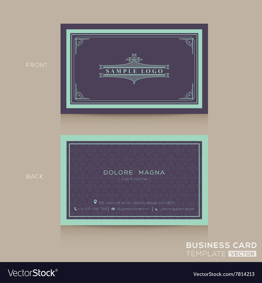 Classic Vintage Business Card Namecard Royalty Free Vector Wedding Invitation Card Design Movie Ticket Wedding Invitations Vintage Wedding Invitation Cards