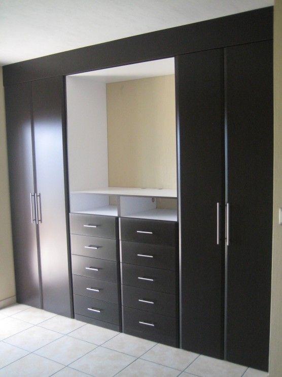Cl set o armario en madera puertas cl set y cocinas en Diseno de interiores closets modernos