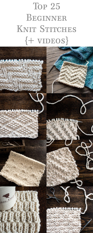 Top 25 Beginner Knit Stitches Bundle