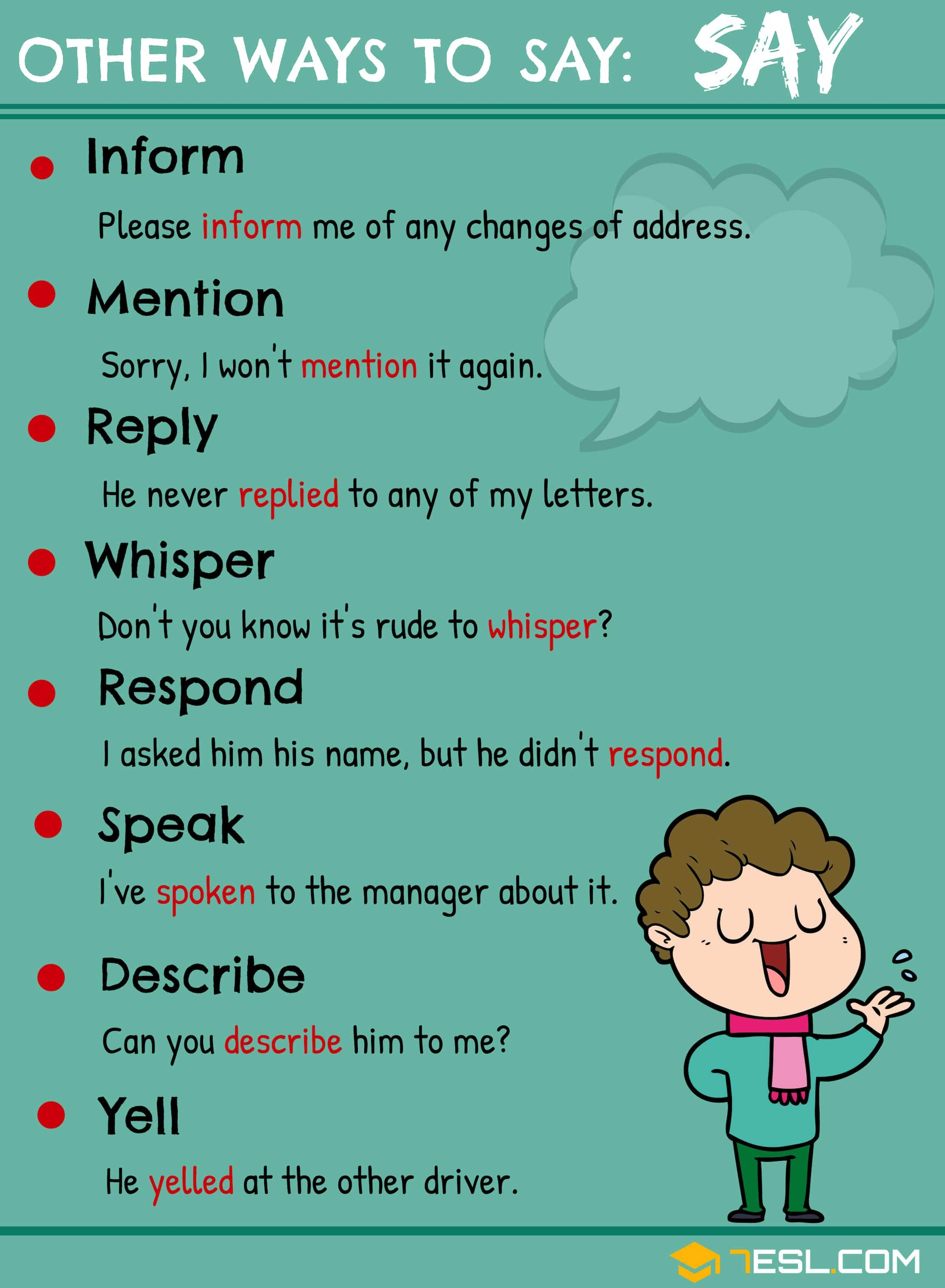 Synonyms For Say 105 Useful Say Synonyms In English
