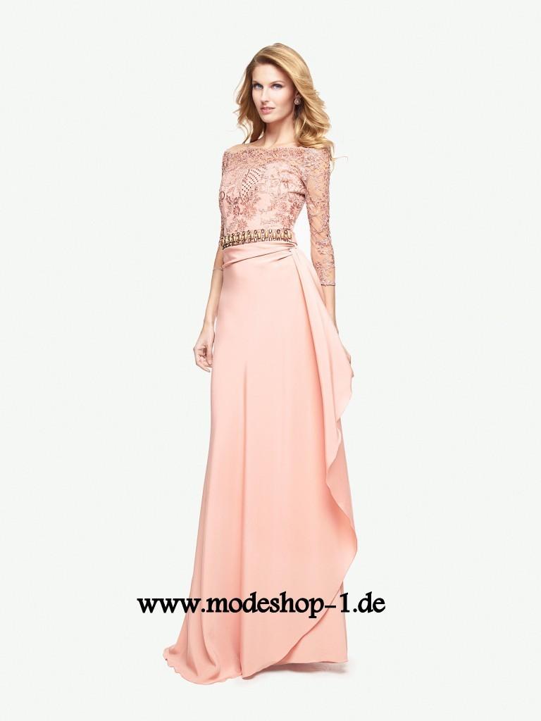 Festliches Langarm Abendkleid in Lachs | Abendkleid ...