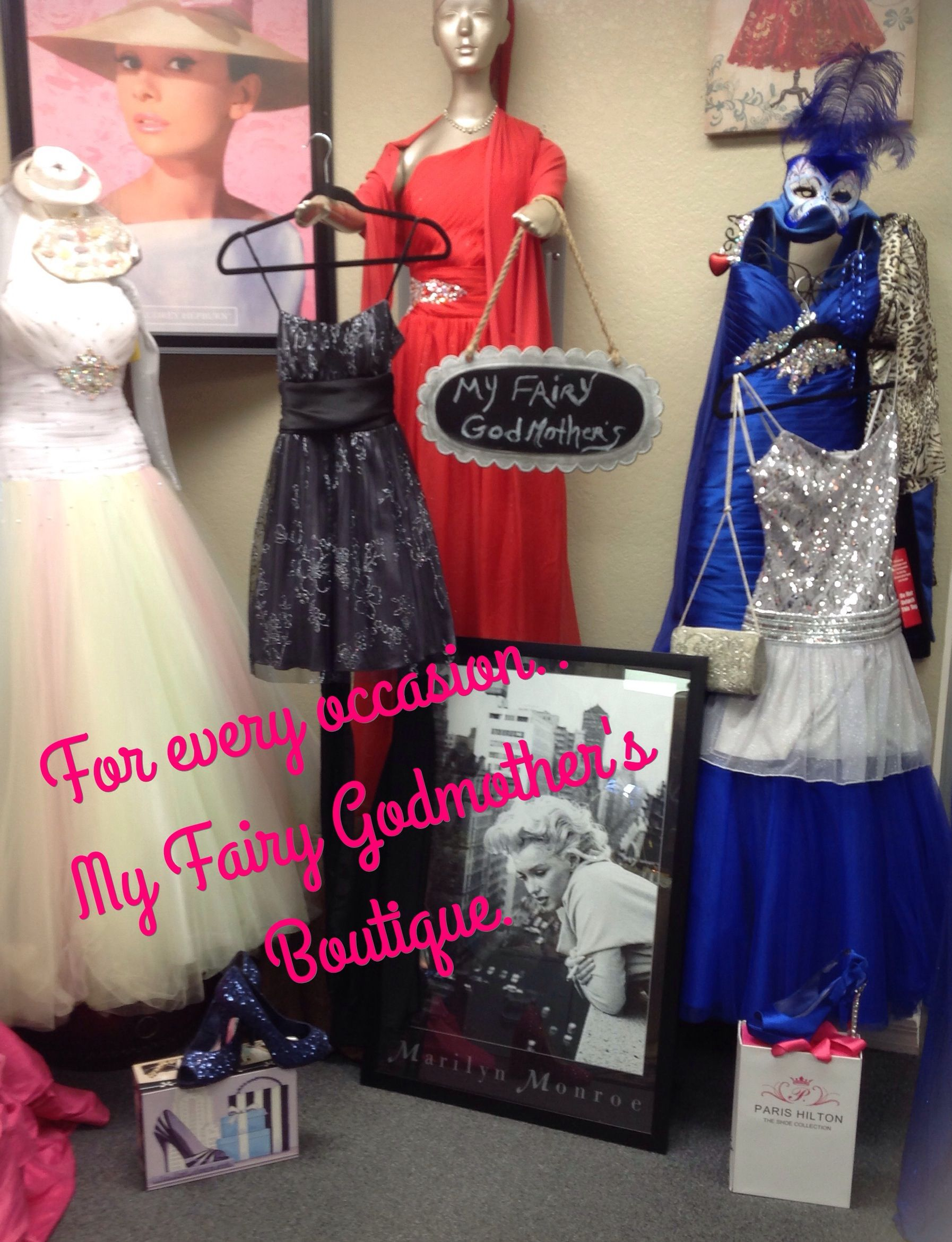 Dresses..Gowns & Accessories for every occasion.   Find us on Facebook..MyFairy  Godmothers.