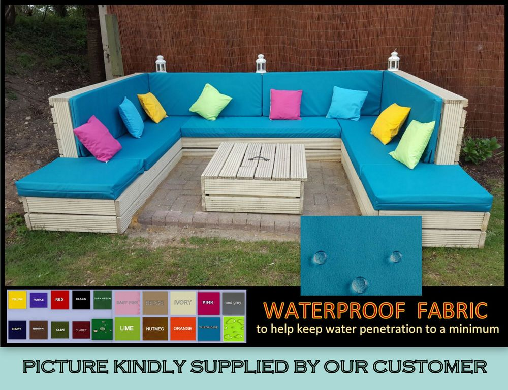 Details About 1 X Waterproof Cushion For Pallet Garden Furniture Rattan Cane Sofas Chairs Pallet Garden Furniture Waterproof Cushions Diy Garden Furniture