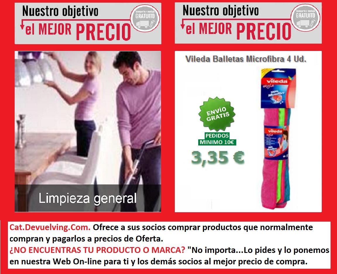 Devuelving Tienda Online y Comercio por Internet: Vileda Balletas Microfibra 4 Ud.