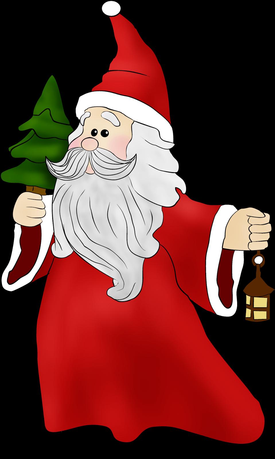 CHRISTMAS SANTA CLIP ART | weihnacht einfach | Pinterest ...