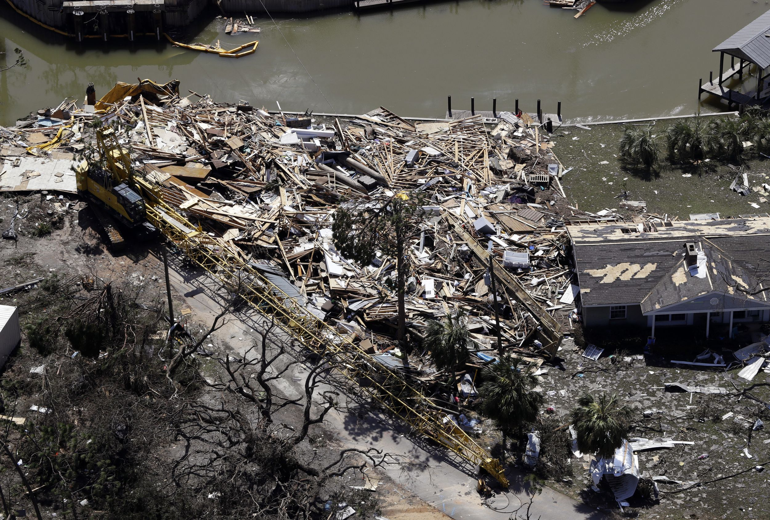 Aerial Photos Show Hurricane Michael S Destruction From The Sky Mexico Beach Florida Mexico Beach Hurricane