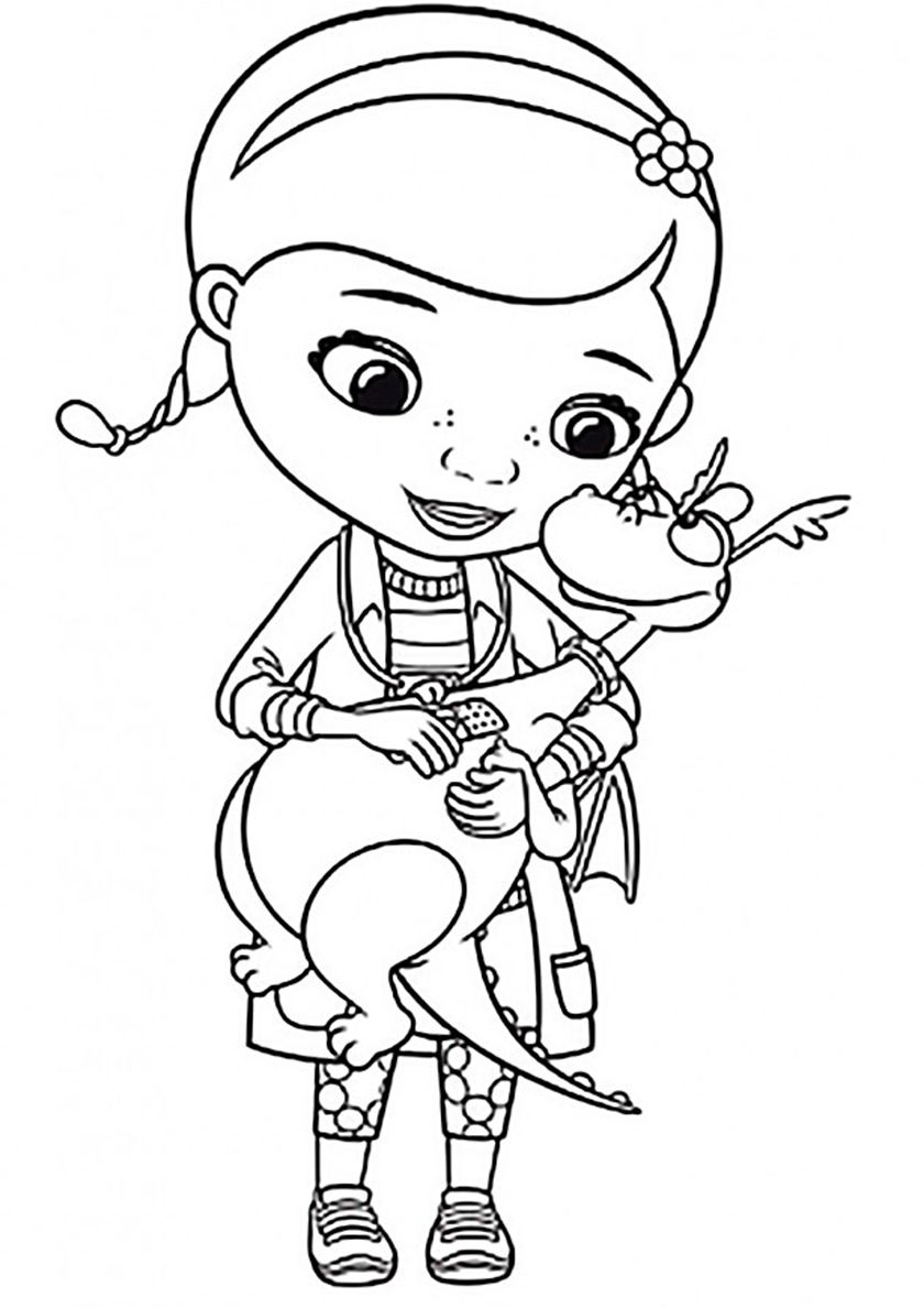 Doctor And Stuffy High Quality Free Coloring From The Category Doc Mcstuffins More Printable Pictures Cartoon Coloring Pages Coloring Pages Doc Mcstuffins