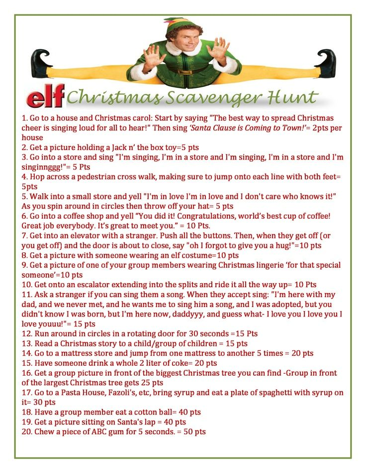 christmas scavenger hunt Google Search (With images