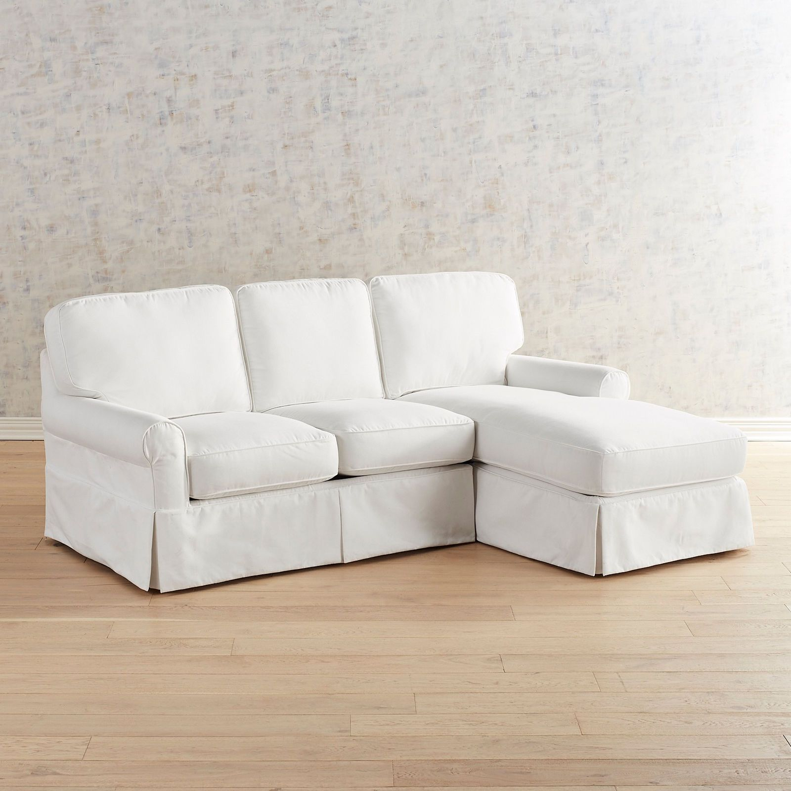 Lia Pierformance White Slipcovered 2 Piece Right Arm Chaise Sectional Pier 1 Couch Covers Slipcovers Sectional Sofa Slipcovers Slipcovered Sofa Living Room