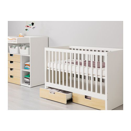 stuva babybett mit schubf chern ikea home baby schlafzimmer kinderzimmer und baby. Black Bedroom Furniture Sets. Home Design Ideas