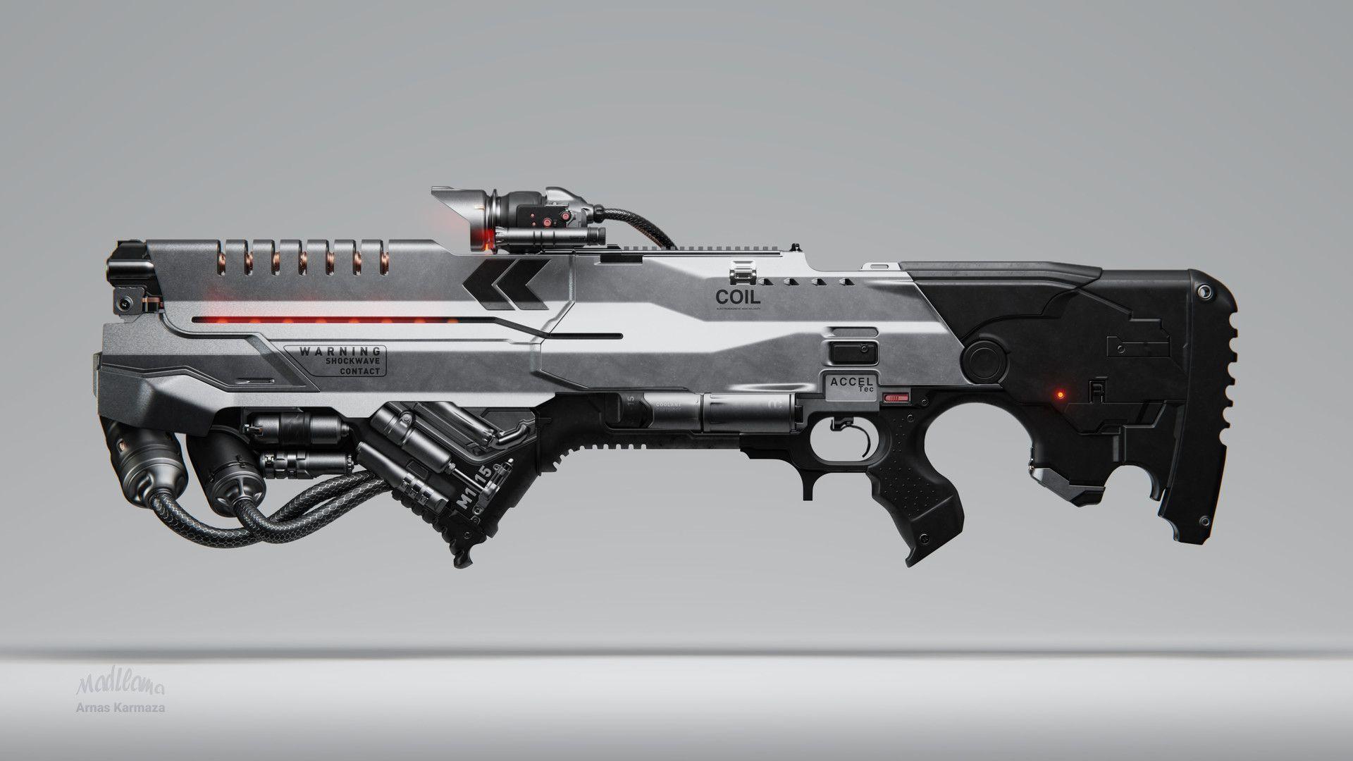 ArtStation - Coil Railgun, Mad Llama | Sci-Fi Weapons | Sci