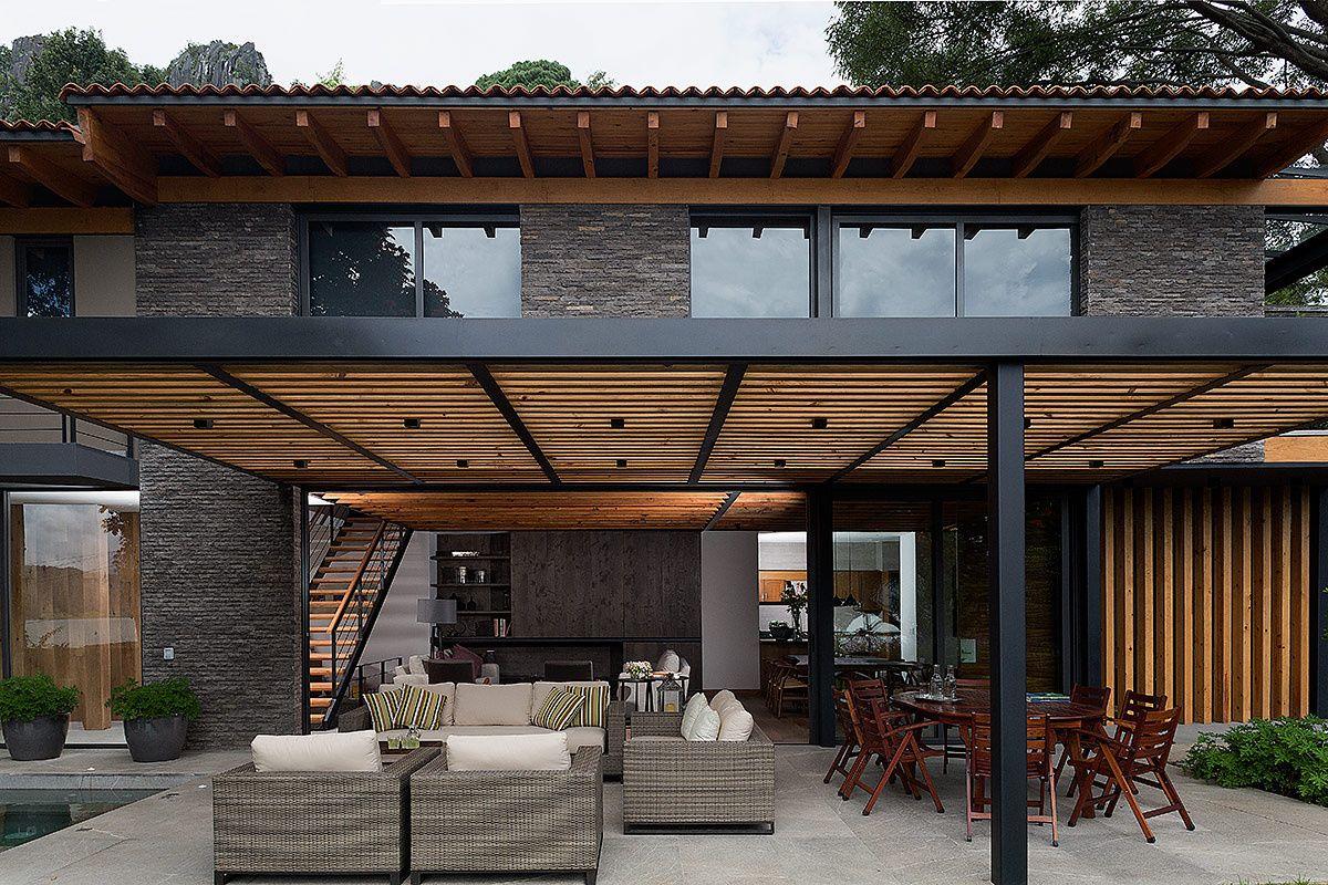 Casa de descanso en valle de bravo pergolas patios and architecture