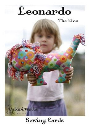 VALORI WELLS Leonardo the Lion sewing card for by FancifulFabrics, $3.25