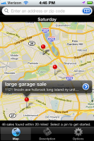 Yard Sale Mapper Find Garage Sales Near You App For Iphone And Android Iphone Fun Iphone Info Garage Sales