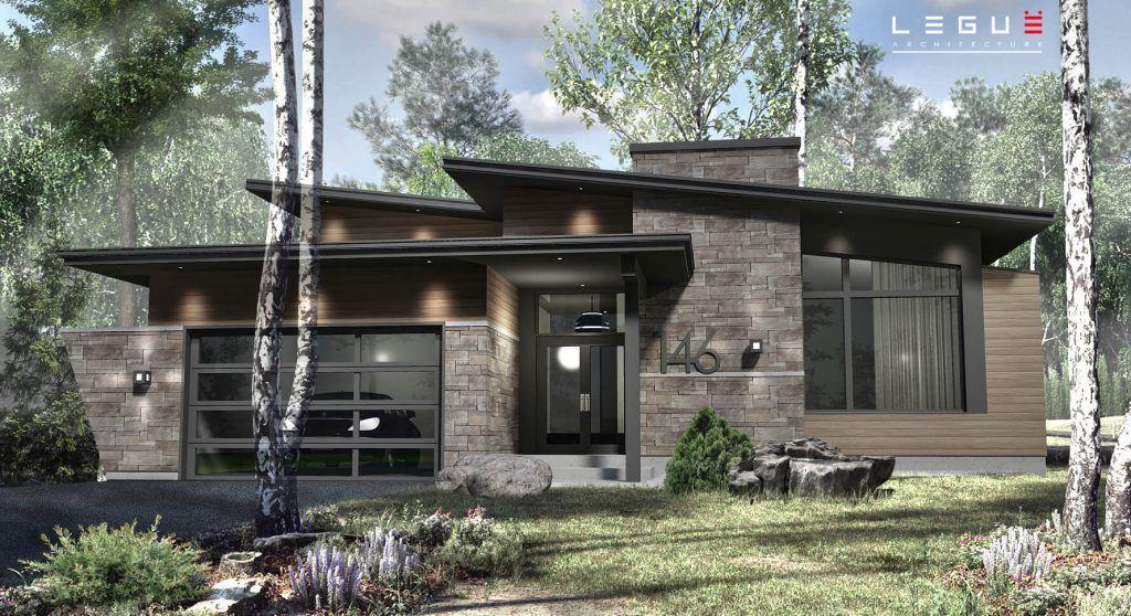 Plan de Maison Moderne Ë_146 Leguë Architecture Constructions - Photos De Maison Moderne