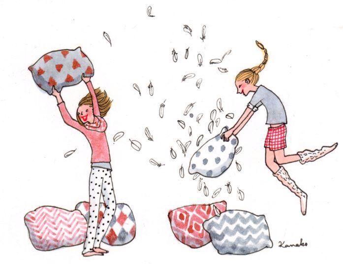 Pyjama Party Kanako Bataille De Polochons Et Soirée Pyjama