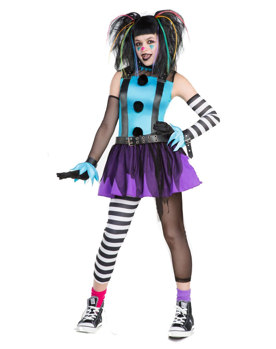 tween punk clown costume childs medium by spirit halloween - Spirits Halloween Alexandria La