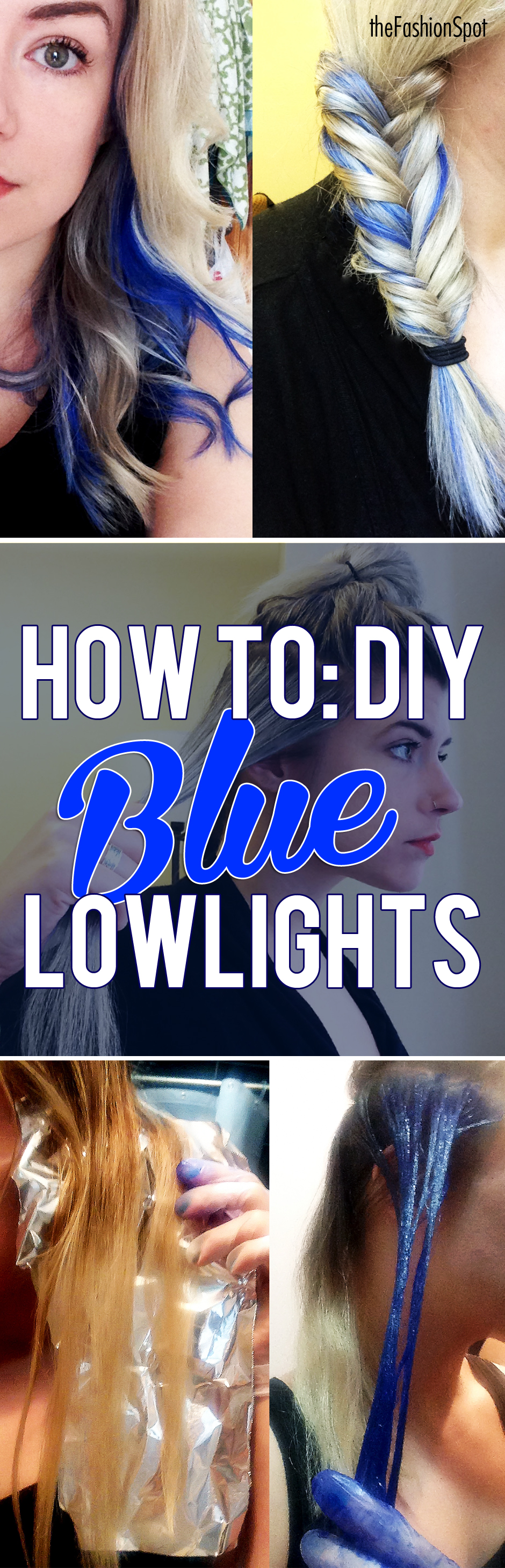 How to get blue lowlights at home colored hair hair dye and hair
