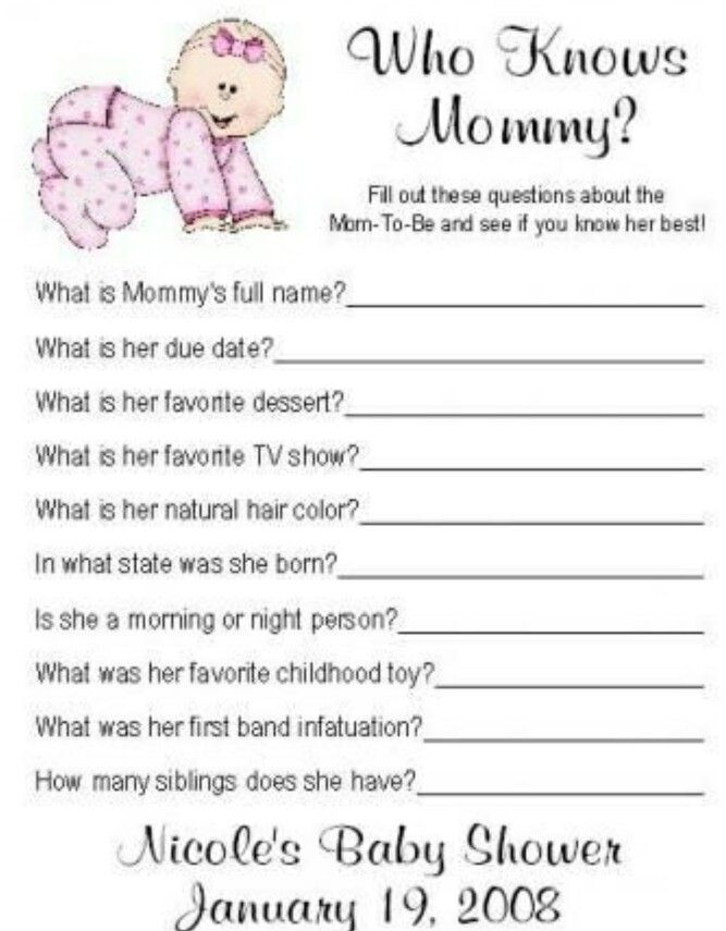 """""""Who knows my mommy?"""" game"""