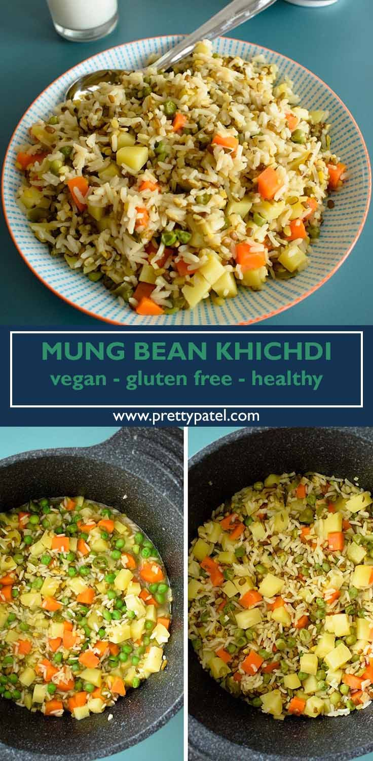 Homemade Khichdi Rice With Vegetable And Mung Beans