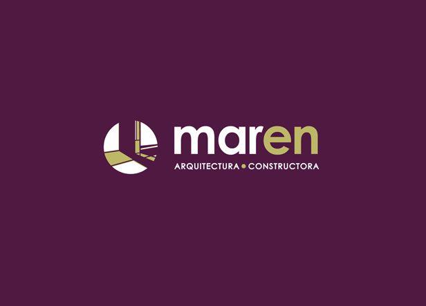 logotipo para maren un estudio de arquitectura barcelon s